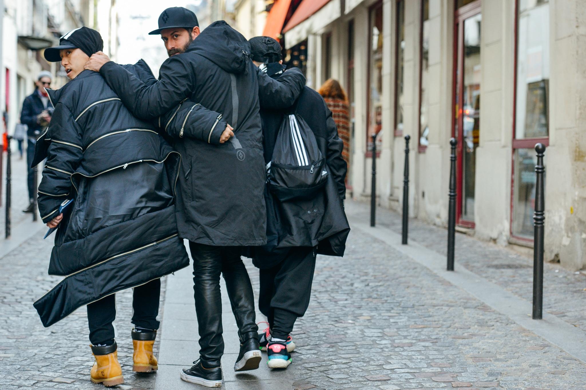 Street Style. Модное Трио