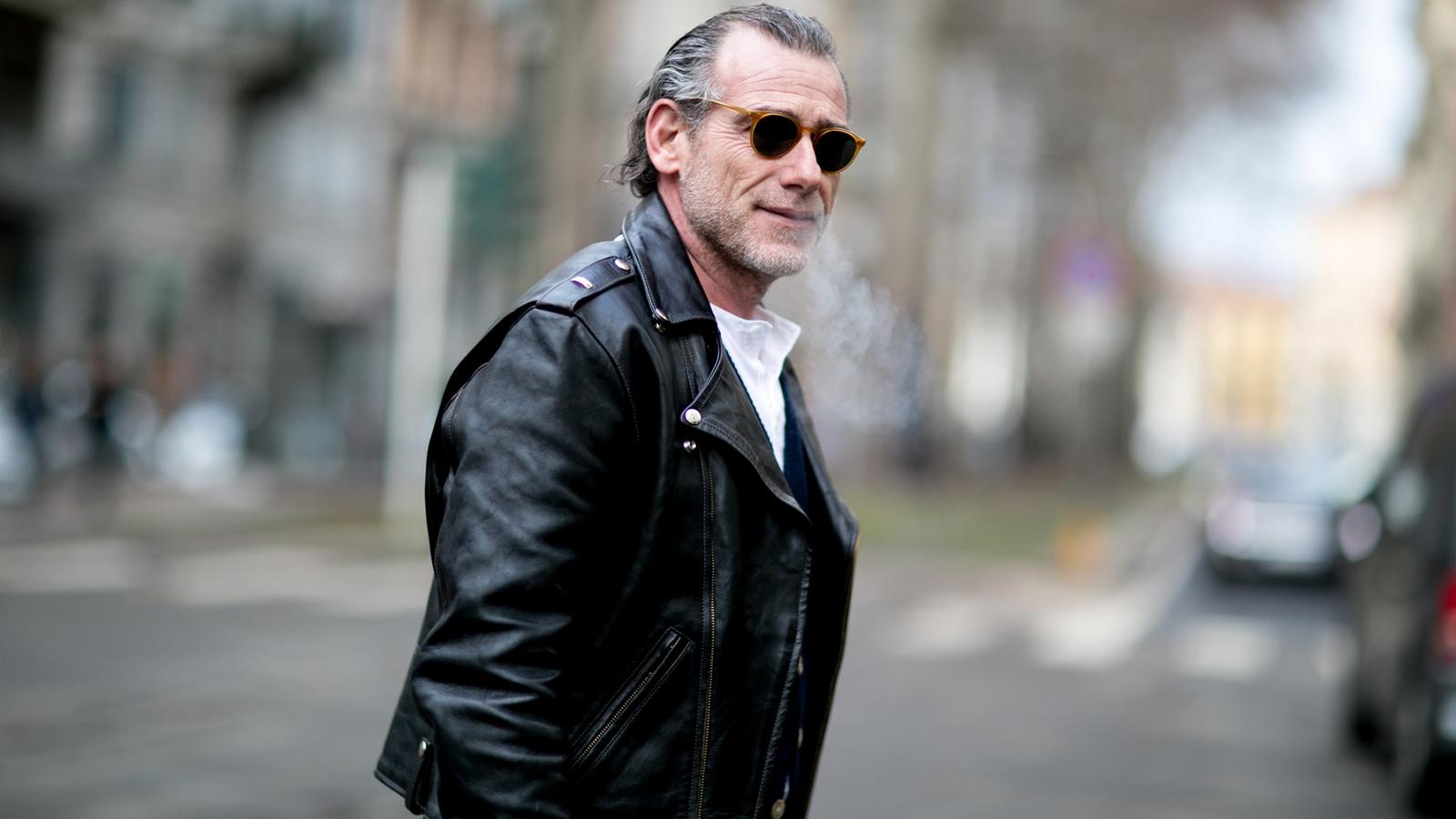 Как носить и с чем сочетать кожаную куртку?