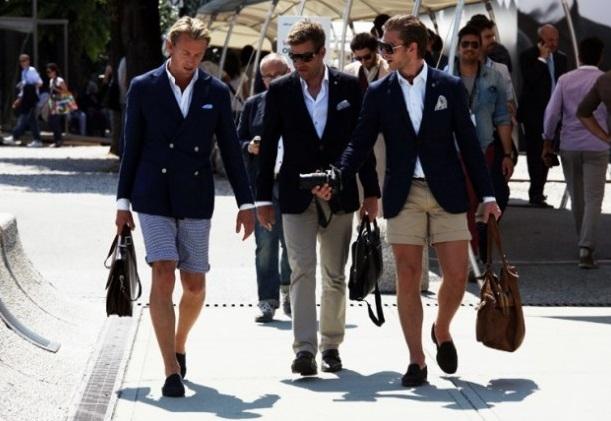 Пиджак и шорты. Модное сочетание для смелых мужчин